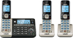 VTech - DECT 6.0 Expandable Cordless Phone System with Connect to Cell Digital Answering System - Champagne/Black