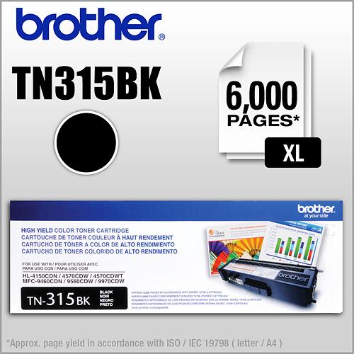 Brother - TN315BK XL High-Yield Toner Cartridge - Black