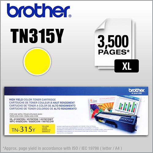 Brother - TN315Y XL High-Yield Toner Cartridge - Yellow