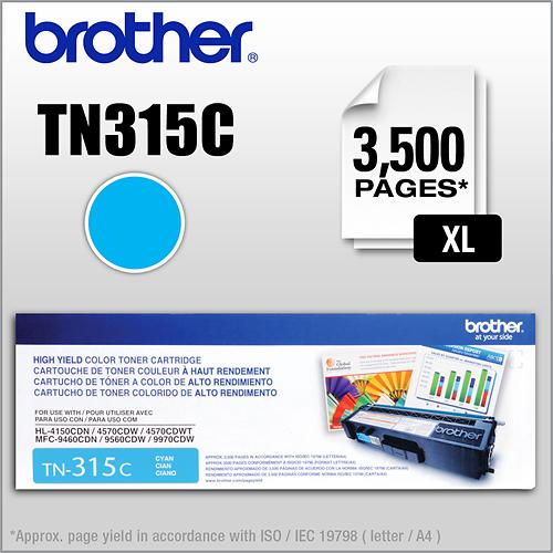 Brother - TN315C XL High-Yield Toner Cartridge - Cyan