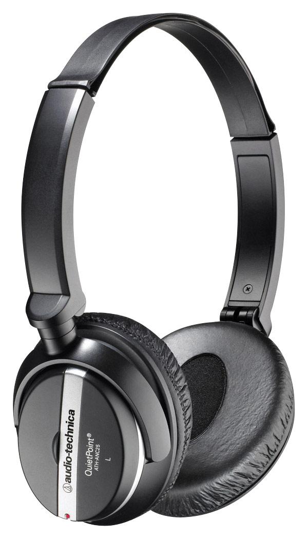 Audio-Technica - QuietPoint Active-Noise-Canceling On-Ear Headphones - Black