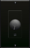 Russound - Decora-Style In-Wall Volume Control - Black