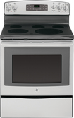 "GE - 30"" Self-Cleaning Freestanding Electric Range - Stainless-Steel"