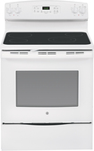 "GE - 30"" Self-Cleaning Freestanding Electric Range - White-on-White"