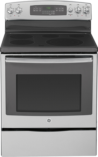 """GE 30"""" Self-Cleaning Freestanding Electric Convection Range Stainless-Steel JB750SFSS"""