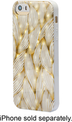 Dynex™ - Case for Apple® iPhone® 5 and 5s - White/Gold