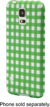 Dynex™ - Case for Samsung Galaxy S 5 Cell Phones - Green/White