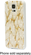 Dynex™ - Case for Samsung Galaxy S 5 Cell Phones - Gold/White