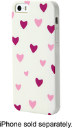 Dynex™ - Case for Apple® iPhone® 5 and 5s - White/Purple