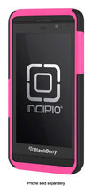 Incipio - DualPro Case for BlackBerry Z10 Cell Phones - Black/Neon Pink
