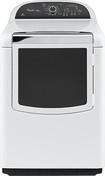 Whirlpool - Cabrio Platinum 7.6 Cu. Ft. 11-Cycle Steam Gas Dryer - White