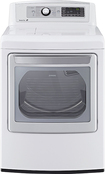 LG - 7.3 Cu. Ft. 14-Cycle Ultralarge-Capacity Steam Electric Dryer - White
