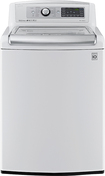 LG - 5.2 Cu. Ft. 14-Cycle Mega-Capacity High-Efficiency Steam Top-Loading Washer - White