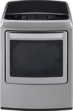 LG - 7.3 Cu. Ft. 12-Cycle Ultralarge-Capacity Steam Gas Dryer - Graphite Steel