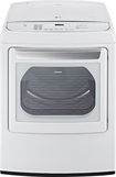LG - 7.3 Cu. Ft. 12-Cycle Ultralarge-Capacity Steam Gas Dryer - White