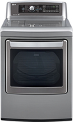 LG - 7.3 Cu. Ft. 14-Cycle Ultralarge-Capacity Steam Gas Dryer - Graphite Steel