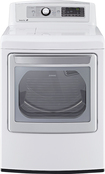 LG - 7.3 Cu. Ft. 14-Cycle Ultralarge-Capacity Steam Gas Dryer - White