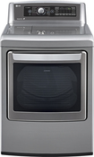 LG - 7.3 Cu. Ft. 14-Cycle Ultralarge-Capacity Steam Electric Dryer - Graphite Steel