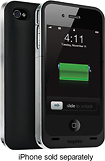 mophie - juice pack air Charging Case for Apple® iPhone® 4 and 4S - Black/Silver