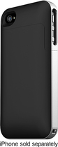 mophie - juice pack air Charging Case for Apple¿ iPhone¿ 4 and 4S - Black/Silver