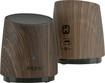 iHome - Rechargeable Mini Speakers - Dark Wood