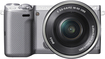 Sony - NEX-5T Compact System Camera with 16-50mm Retractable Lens - Silver