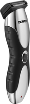 Conair - 2-Blade Beard, Mustache and Stubble Trimmer - Silver/Black