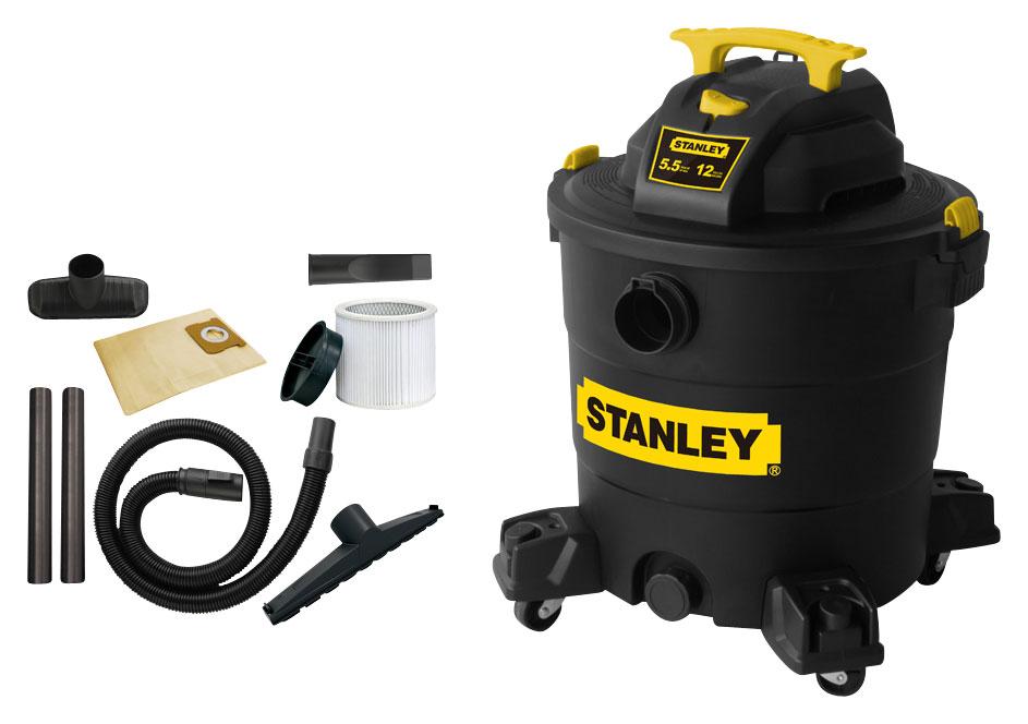 Stanley - 12-Gal. Wet/Dry Vacuum - Black