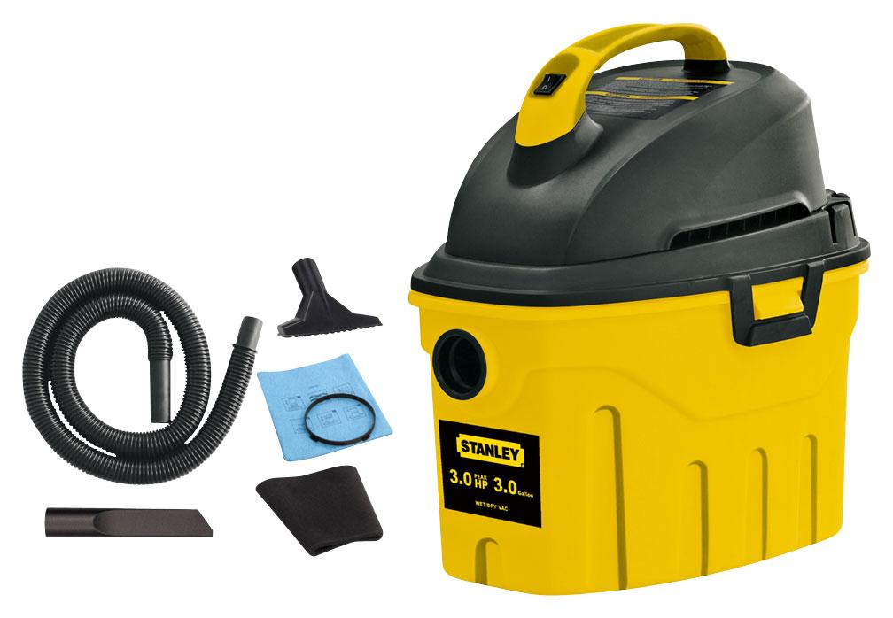 Stanley - 3-Gal. Wet/Dry Vacuum - Black