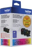 Brother - LC101CL 3-Pack Ink Cartridges - Cyan/Magenta/Yellow
