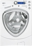 GE - 5.1 Cu. Ft. Steam Washer - White