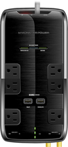 Monster - Power Black Platinum 600 6-Outlet Surge Protector - Black