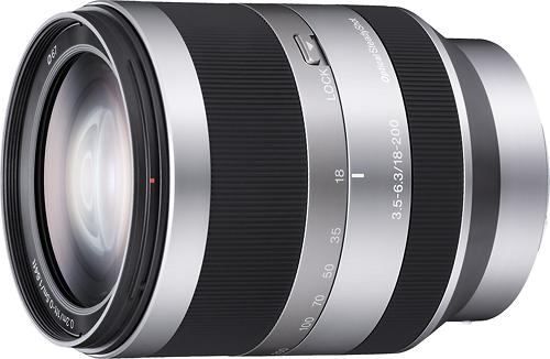 Sony - 18-200mm f/3.5-6.3 Alpha E-Mount Lens for Sony Alpha NEX Dslr Cameras - Silver