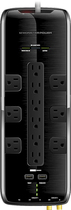Monster - Power Black Platinum 1200 12-Outlet Surge Protector - Black