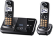 Panasonic - DECT 6.0 Expandable Cordless Phone with Call-Waiting Caller ID - Black Metallic