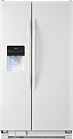 Amana - 25.4 Cu. Ft. Side-by-Side Refrigerator with Thru-the-Door Ice and Water - White