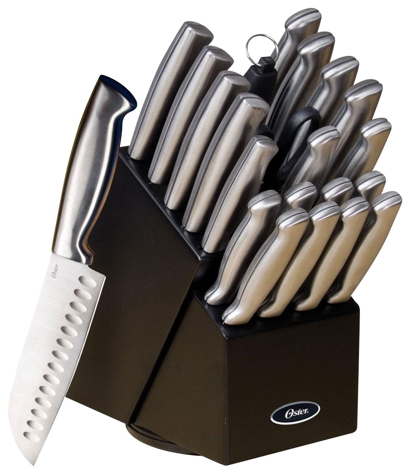 Oster - Baldwyn 22-Piece Knife Set - Stainless-Steel
