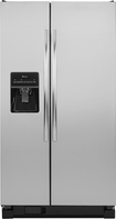 Amana - 25.4 Cu. Ft. Side-by-Side Refrigerator with Thru-the-Door Ice and Water - Stainless-Steel