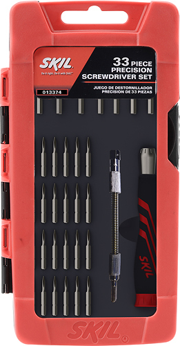 Skil - 33-Piece Screwdriver Set - Red/Black