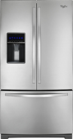 Whirlpool - 26.1 Cu. Ft. French Door Refrigerator with Thru-the-Door Ice and Water - Stainless-Steel