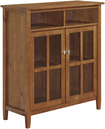 Simpli Home - Warm Shaker Media Cabinet for Most Flat-Panel TVs Up to 46 - Brown