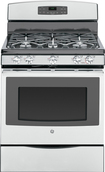 "GE - 30"" Self-Cleaning Freestanding Gas Range - Stainless-Steel"