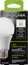 Insignia™ - 800-Lumen, 10.5W A19 LED Light Bulb, 60W Equivalent - Warm White