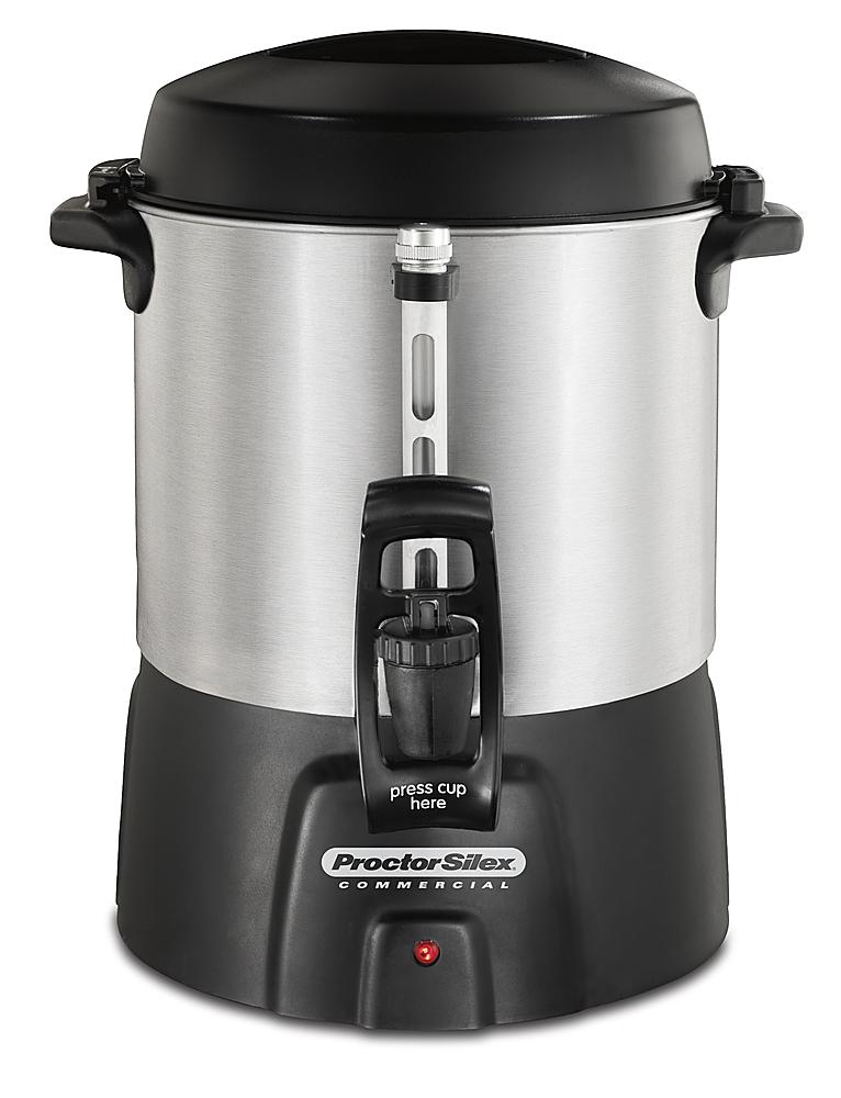 Proctor Silex - 40-Cup Coffee Urn - Brushed Aluminum/Black