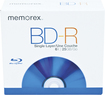 Memorex - 5-Pack 6x BD-R Discs with Jewel Case - Blue
