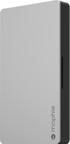 mophie - 3000 powerstation plus External Battery for Lightning-Equipped Apple® Devices - Silver/Black