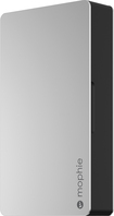 mophie - 5000 powerstation plus External Battery for Lightning-Equipped Apple® Devices - Silver/Black