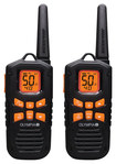 Olympia - 42-Mile, 50-Channel FRS/GMRS 2-Way Radios (Pair) - Black/Orange