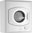 Avanti - 2.6 Cu. Ft. 5-Cycle Compact Electric Dryer - White