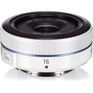 Samsung - 16 mm f/2.4 Ultra Wide Angle Lens for NX - White